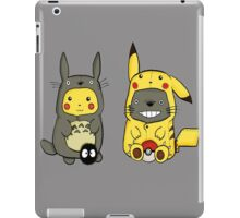Pikachu and totoro fun iPad Case/Skin