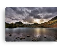 As the sun sets over Buttermere Canvas Print