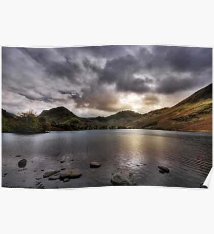 As the sun sets over Buttermere Poster