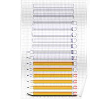 How to make a pencil Poster