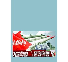 North Korean Propaganda - Missiles  Photographic Print