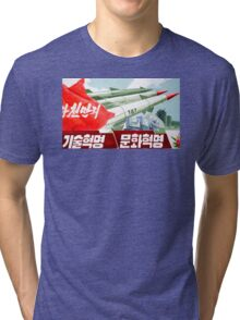 North Korean Propaganda - Missiles  Tri-blend T-Shirt