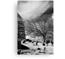 A Fine Day - Irish Graveyard Canvas Print