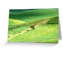 Alone in a Tuscan Valley-Siena Greeting Card