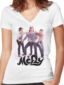 McFly Fun Band Merch Women's Fitted V-Neck T-Shirt