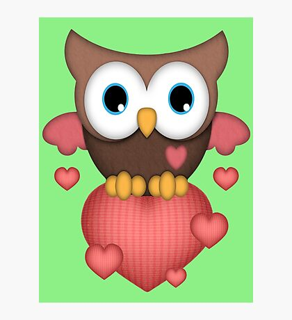 Owl in Love  Photographic Print