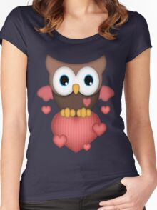 Owl in Love  Women's Fitted Scoop T-Shirt
