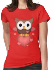Owl in Love  Womens Fitted T-Shirt