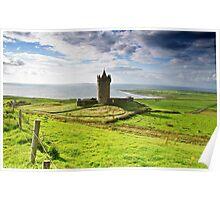 Doonagore Irish Castle, Doolin, County Clare, Ireland Poster