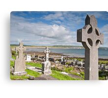Burial Grave Site In Lahinch Liscannor County Clare Ireland Canvas Print