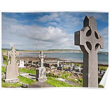 Burial Grave Site In Lahinch Liscannor County Clare Ireland Poster