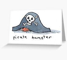Pirate Hamster Greeting Card