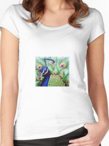 Gorgeous Peacock Women's Fitted Scoop T-Shirt