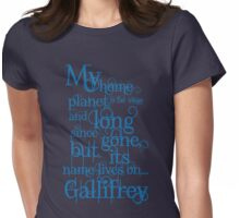 My Home Planet - Typographical Womens Fitted T-Shirt
