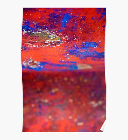 Red Blue wonderland Poster