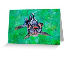 Blackmoor Goldfish Greeting Card