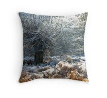 Frostscape Throw Pillow
