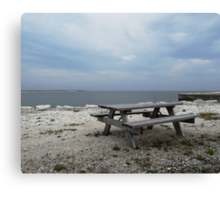 Picnic by the sea Canvas Print