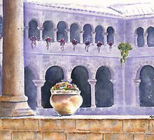 Courtyard in Cuzco by Marsha Elliott