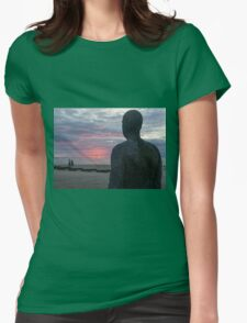 Sunset at Crosby beach Womens Fitted T-Shirt