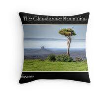 The Glasshouse Mountains Throw Pillow