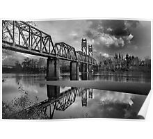 Old Rail Road Bridge Poster