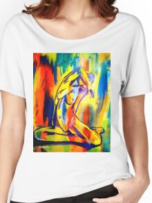 """""""Fire and gold"""" Women's Relaxed Fit T-Shirt"""