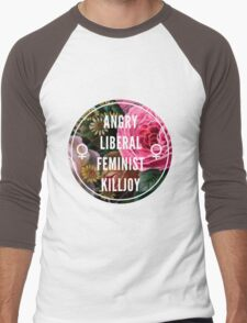 Angry Liberal Feminist Killjoy Men's Baseball ¾ T-Shirt
