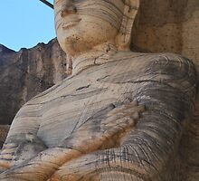 Buddha statue at Polonnnaruwa,12th century by dhanushanka
