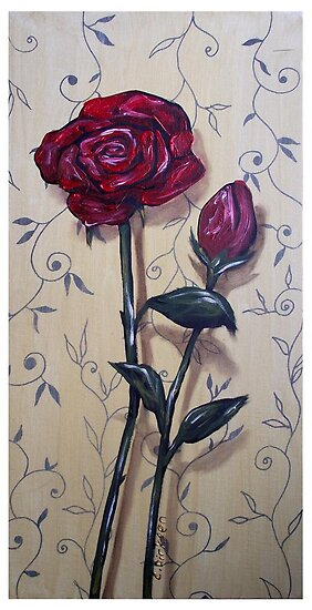 Long-stem Red Roses by Cherie Roe Dirksen
