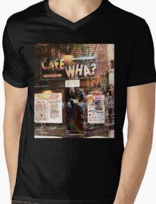 Cafe Wha, NYC, NY Mens V-Neck T-Shirt