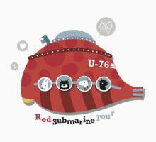 Red Submarine Tour Baby Tee