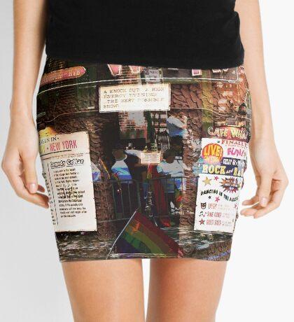 Cafe Wha, NYC, NY Mini Skirt