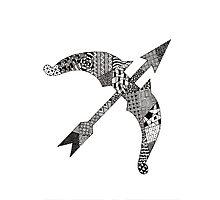 Zentangle Bow Photographic Print