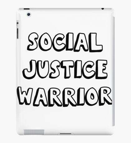 social justice warrior iPad Case/Skin