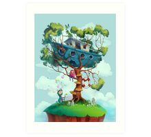 Ship house Art Print