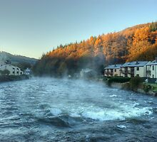The River Leven,Backbarrow, in Autumn by VoluntaryRanger