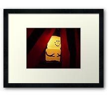 Marshmallow Snowman  Framed Print