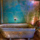 Blue Green Bathroom by AnsonFineArt