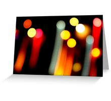Colorful Streaks Greeting Card