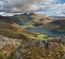 Wastwater and Scafell Pike by eddiej