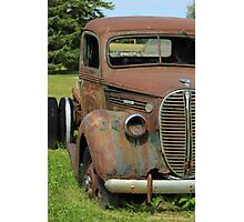 Rust Covered Antique Truck Photographic Print