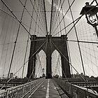 Brooklyn Bridge in New York city by sumners