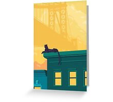 Urban jaguar Greeting Card