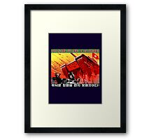 North Korean Propaganda - The Tank Framed Print