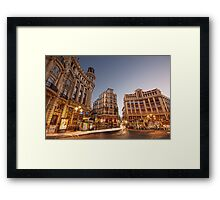 Blue Hour @ Plaza de Canalejas Framed Print