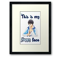 Haruka Nanase - 'This is my Happy Face' Framed Print
