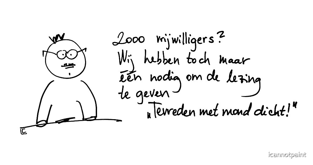 2000 vrijwilligers by icannotpaint