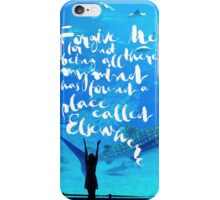 Forgive me for not being all there my mind has found a place called elsewhere iPhone Case/Skin