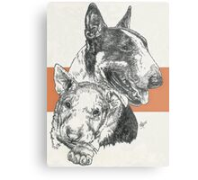Bull Terrier Father & Son Metal Print